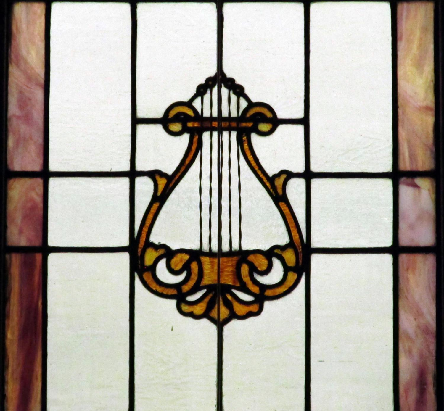 Harp, Stained Glass, Sanctuary, Church, Music